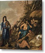 The Judgement Of Midas In The Contest Between Apollo And Pan Metal Print