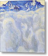 The Jung Frau Above A Sea Of Mist Metal Print