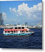 The Kaohsiung Harbor Ferry Crosses The Bay Metal Print