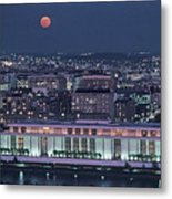 The Kennedy Center Lit Up At Night Metal Print