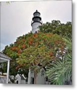 The Key West Lighthouse Metal Print