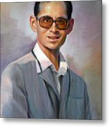 The King Bhumibol Metal Print