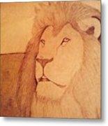 The King Lion Metal Print