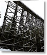 The Kinsol Trestle Panorama View On Snowy Day 1. Metal Print