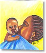 The Kiss Of A Mother In Senegal Metal Print