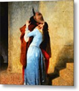 The Kiss Of Hayez Revisited Metal Print