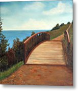 The Kissing Bridge Metal Print