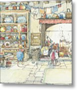 The Kitchen At Crabapple Cottage Metal Print