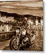 The Knight of Heidelberg-Sepia Metal Print