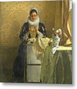 The Lace Maker  Metal Print