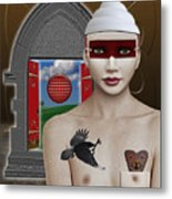 The Lady In Waiting Metal Print by Keith Dillon