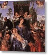 The Lady Of The Festival Du Rosaire Fragment Metal Print