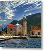 The Lady Of The Rocks Metal Print