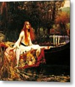 The Lady Of The Shalot Metal Print by Pg Reproductions