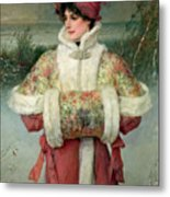 The Lady Of The Snows Metal Print