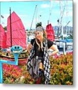The Lady Pirate Metal Print