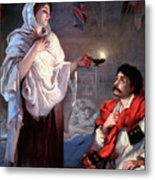 The Lady With The Lamp, Florence Metal Print by Science Source