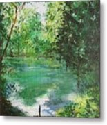 The Lake At Stansted Unfinished Metal Print