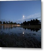 The Lake In The Moonlight Metal Print