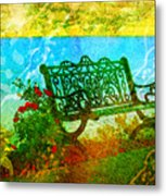 The Lakeview Bench Metal Print