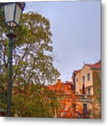 The Lamppost In Oil Metal Print