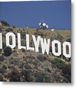 The Landmark Hollywood Sign Metal Print