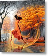 The Last Dance Of Autumn - Fantasy Art  Metal Print