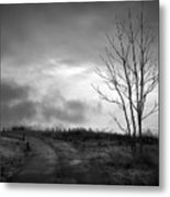 The Last Dawn - Grayscale Metal Print