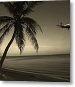 The Last Flight Out Metal Print