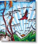 The Last Frontier Original Madart Painting Metal Print