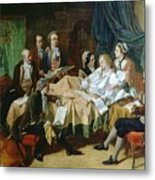 The Last Hours Of Mozart 1756-91 Henry Nelson Oneil Metal Print