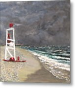 The Last Lifeguard Metal Print