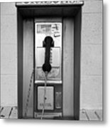 The Last Pay Phone Metal Print