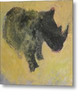 The Last Rhino Metal Print