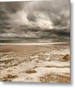 The Last Sand Castle Of The Season Metal Print