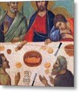 The Last Supper Fragment 1311 Metal Print
