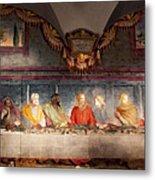 The Last Supper. Fresco In Church Santa Maria Del Carmine, Florence  Metal Print