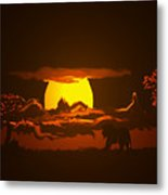 The Last Water Hole Metal Print