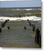 The Last Wooden Pier Metal Print