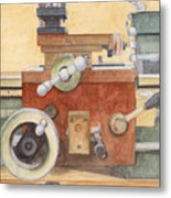 The Lathe Metal Print