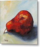 The Lazy Red Pear II Metal Print