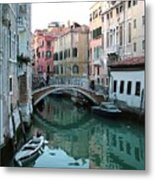 The Leaning Boat Metal Print