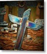 The Leaning Cross Metal Print