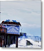 The Leaning Pier Metal Print