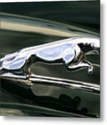 The Leaping Jaguar Metal Print