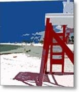 The Lifeguard Stand Metal Print