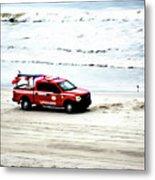 The Lifeguard Truck Metal Print