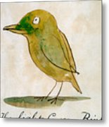 The Light Green Bird Metal Print