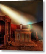 The Light In The Abandoned Church - La Luce Nella Chiesa Abbandonata Metal Print