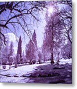 The Light Of River View Metal Print